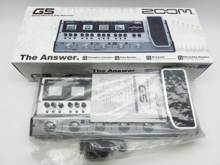 大阪府より、ZOOMのマルチエフェクターG5を買取させて頂きました!