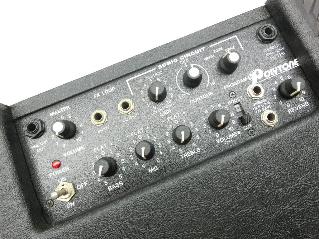 アンプ買取紹介:Polytone ギターアンプ MEGA-BRUTEのコントロール部分
