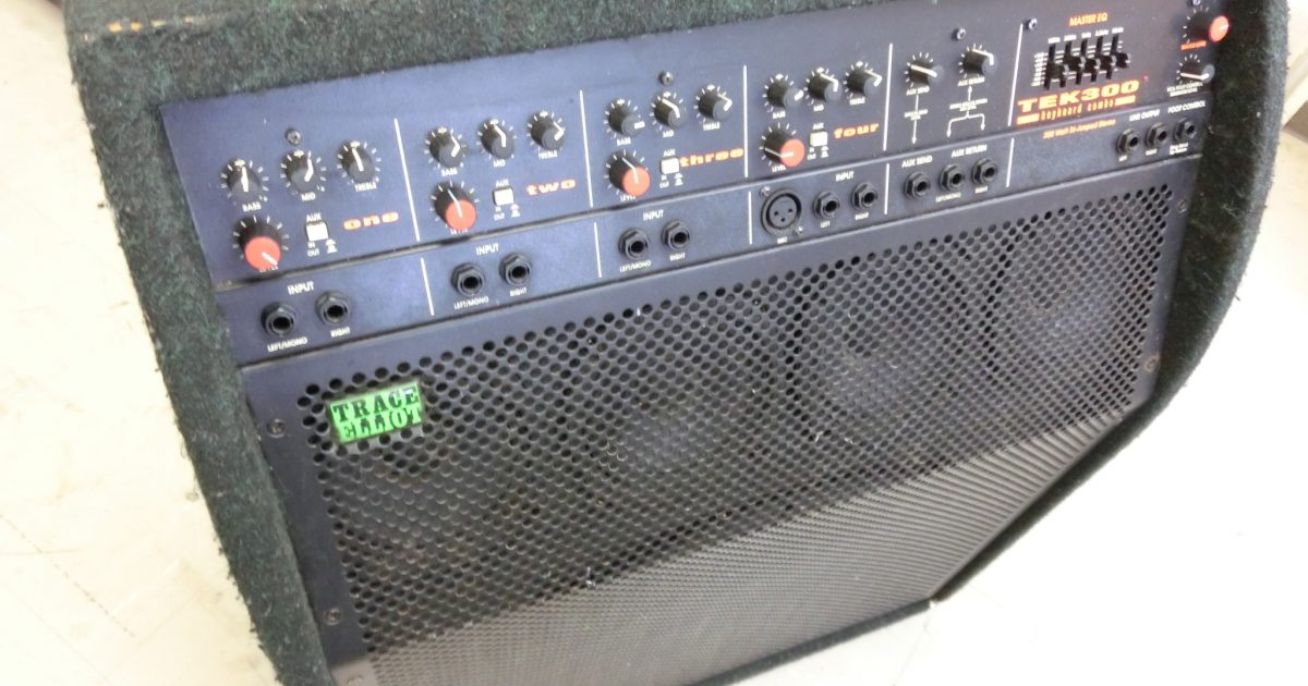 TRACE ELLIOT(トレースエリオット) のキーボードアンプ TEK300を買取頂きました。