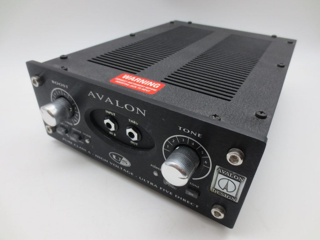 東京都よりD.I/プリアンプ AVALON U5を買取させて頂きました。