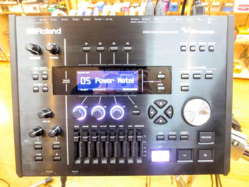 ローランド 電子ドラムセット TD-50KVA V-Drumsの音源モジュール