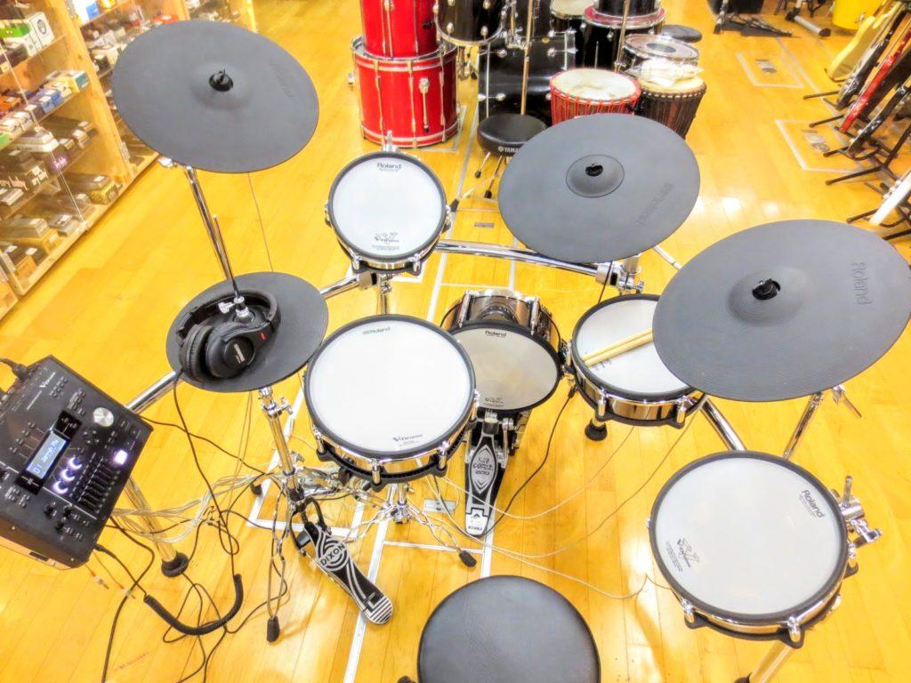 ローランド 電子ドラムセット TD-50KVA V-Drumsのバック全体