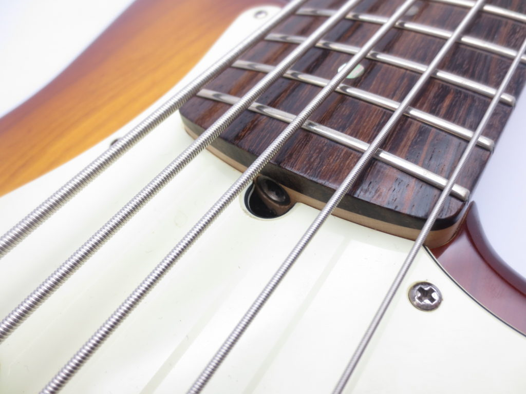 Fender USA American Deluxe Jazz Bass Ⅴ SCN 3 Tone Sunburstトラスロッド