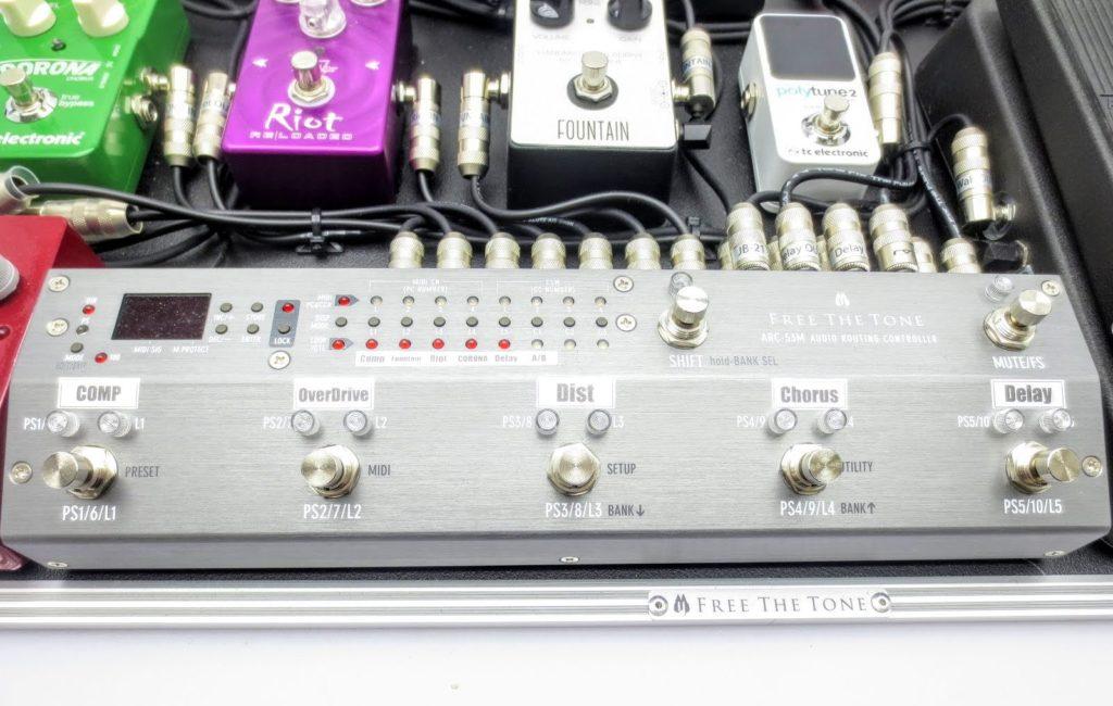 エフェクターボード Free The Tone フリーザトーン ARC-53M Silver Audio Routing Controller