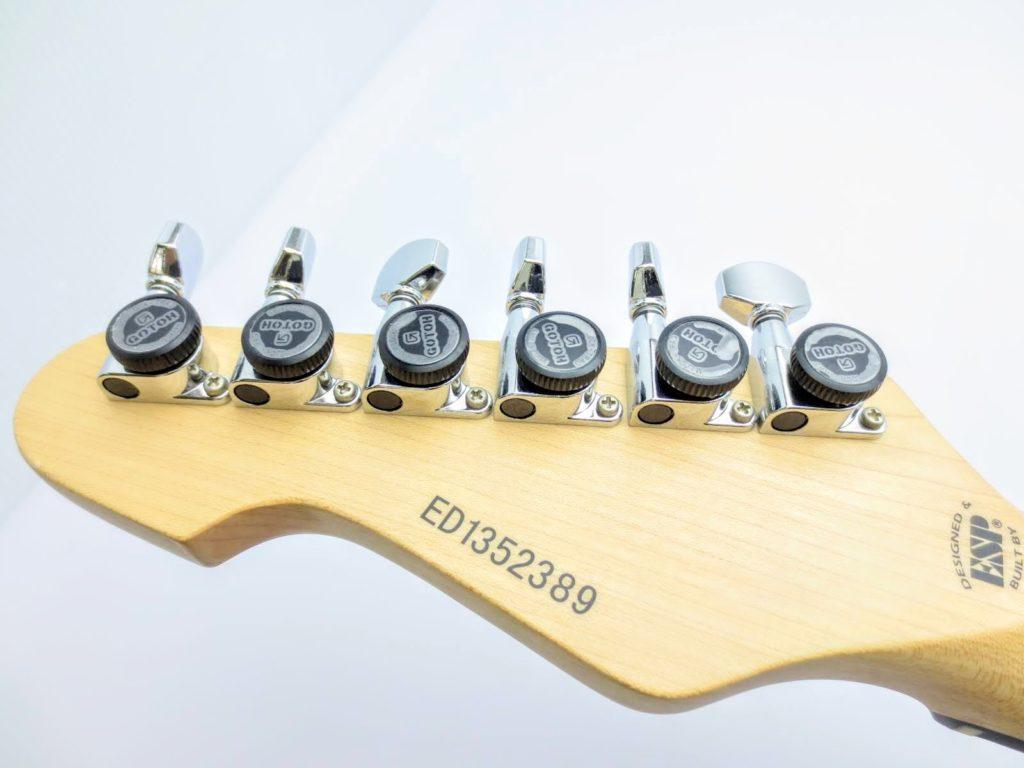 EDWARDSのエレキギターE-SN-125 ヘッド裏