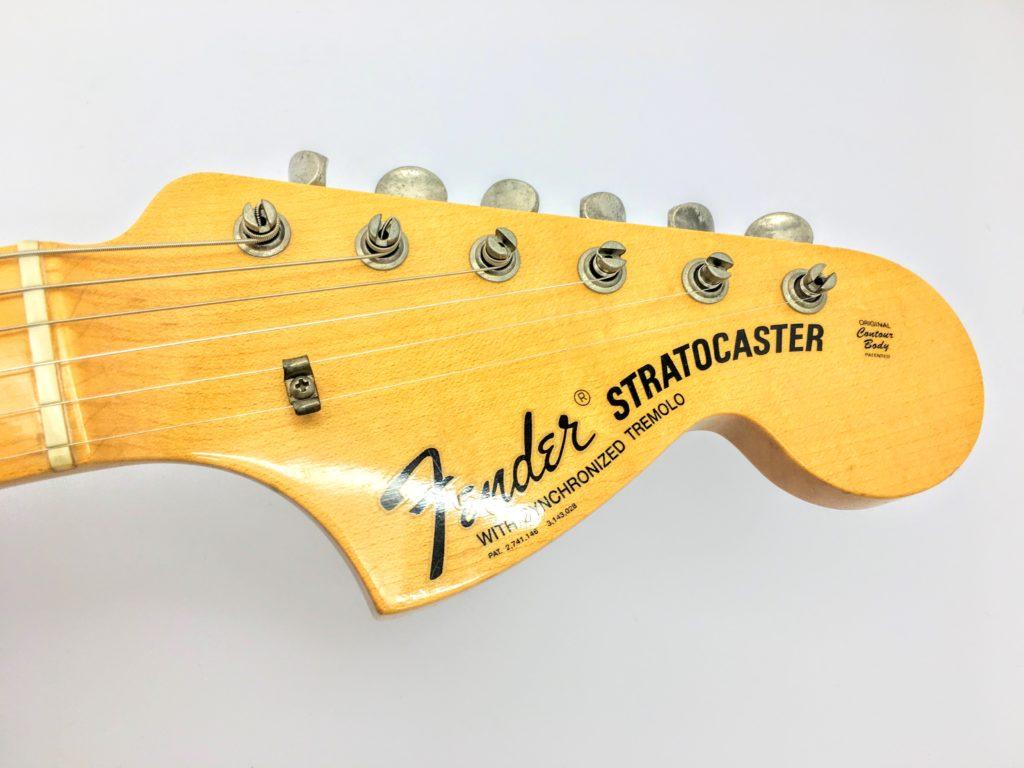 Fender USA Custom Shop 1969 Stratocaster ラージヘッド 表