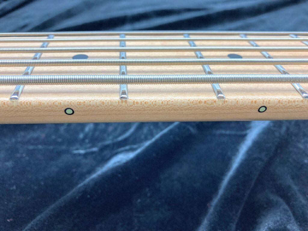 Freedom Custom Guitar Research Anthra 5th alder フレット ドッドインレイ 蓄光